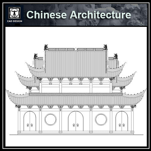 Chinese Architecture CAD Drawings-Stage, ancestral hall - CAD Design | Download CAD Drawings | AutoCAD Blocks | AutoCAD Symbols | CAD Drawings | Architecture Details│Landscape Details | See more about AutoCAD, Cad Drawing and Architecture Details
