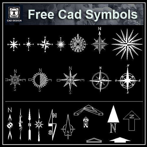 Free North Symbols - CAD Design | Download CAD Drawings | AutoCAD Blocks | AutoCAD Symbols | CAD Drawings | Architecture Details│Landscape Details | See more about AutoCAD, Cad Drawing and Architecture Details