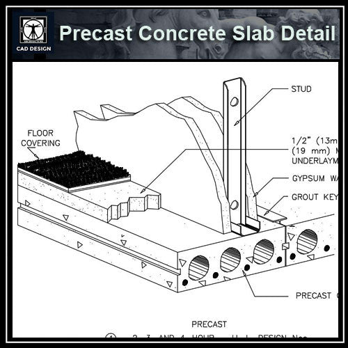 Free CAD Details-Precast Concrete Slab Detail (ISO) - CAD Design | Download CAD Drawings | AutoCAD Blocks | AutoCAD Symbols | CAD Drawings | Architecture Details│Landscape Details | See more about AutoCAD, Cad Drawing and Architecture Details