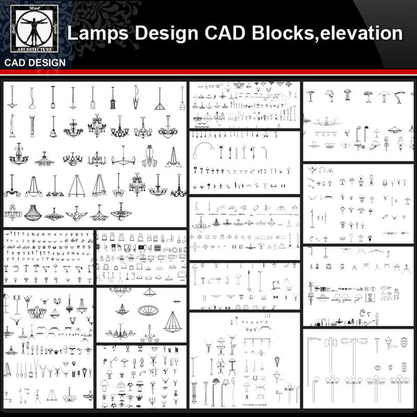★【Lamps Design Autocad Blocks,elevation Collections】All kinds of Lamps CAD Blocks - CAD Design | Download CAD Drawings | AutoCAD Blocks | AutoCAD Symbols | CAD Drawings | Architecture Details│Landscape Details | See more about AutoCAD, Cad Drawing and Architecture Details
