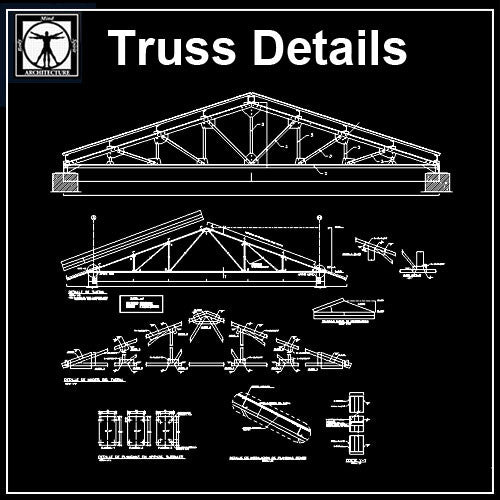 Truss Structure Details V7 - CAD Design | Download CAD Drawings | AutoCAD Blocks | AutoCAD Symbols | CAD Drawings | Architecture Details│Landscape Details | See more about AutoCAD, Cad Drawing and Architecture Details