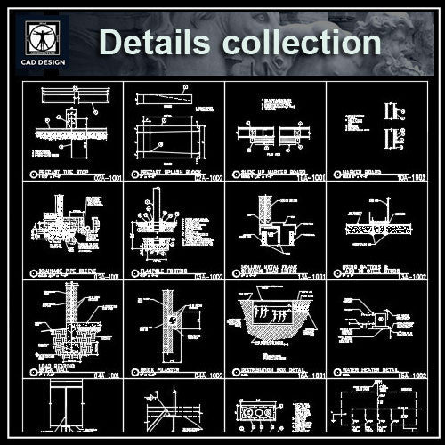CAD Details Collection - CAD Design | Download CAD Drawings | AutoCAD Blocks | AutoCAD Symbols | CAD Drawings | Architecture Details│Landscape Details | See more about AutoCAD, Cad Drawing and Architecture Details