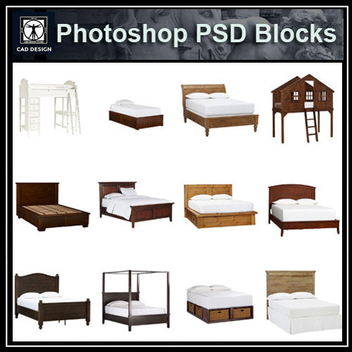 Bedroom Elevations Interior Design Elevation Blocks What: Photoshop PSD Bed Blocks V1 – CAD Design