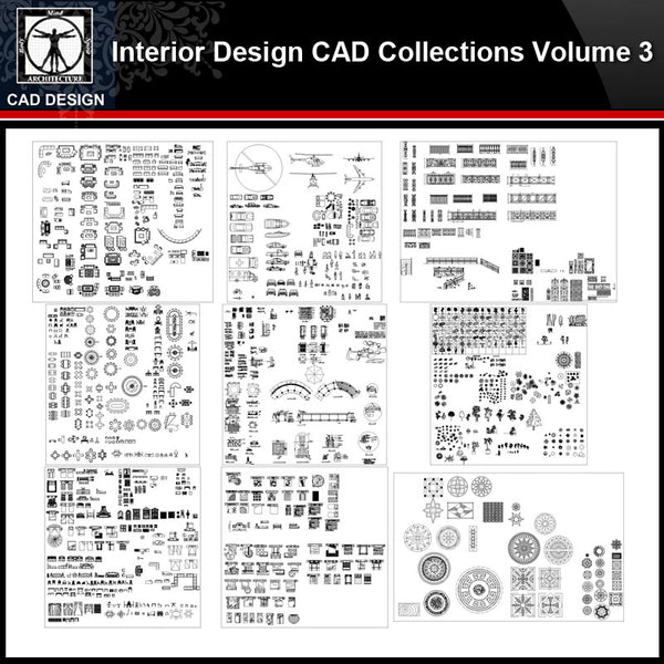 ★【Interior Design Autocad Blocks Collections V.3】All kinds of CAD Blocks Bundle - CAD Design | Download CAD Drawings | AutoCAD Blocks | AutoCAD Symbols | CAD Drawings | Architecture Details│Landscape Details | See more about AutoCAD, Cad Drawing and Architecture Details