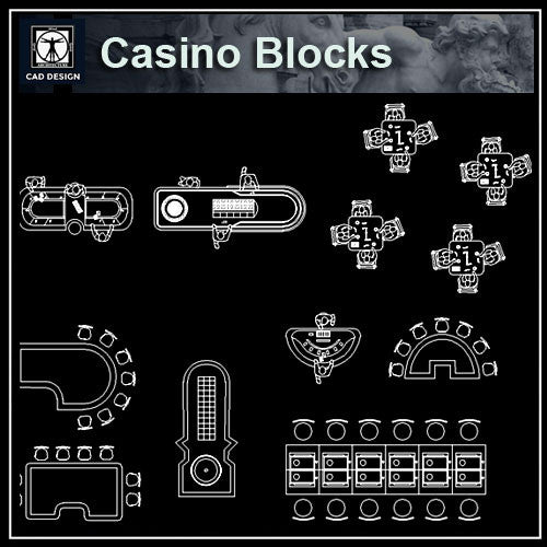 Casino blocks - CAD Design | Download CAD Drawings | AutoCAD Blocks | AutoCAD Symbols | CAD Drawings | Architecture Details│Landscape Details | See more about AutoCAD, Cad Drawing and Architecture Details