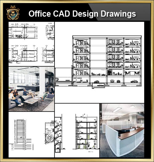 ★【Office, Commercial building, mixed business building, Conference room, bank,Headquarters CAD Design Drawings V.2】@Autocad Blocks,Drawings,CAD Details,Elevation
