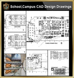 ★【School, University, College,Campus CAD Design Project V.3】@Autocad Blocks,Drawings,CAD Details,Elevation