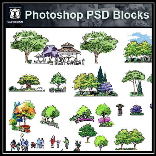 Hand-painted PSD Landscape elevation 5 - CAD Design | Download CAD Drawings | AutoCAD Blocks | AutoCAD Symbols | CAD Drawings | Architecture Details│Landscape Details | See more about AutoCAD, Cad Drawing and Architecture Details