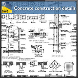 Concrete construction details dwg files - CAD Design | Download CAD Drawings | AutoCAD Blocks | AutoCAD Symbols | CAD Drawings | Architecture Details│Landscape Details | See more about AutoCAD, Cad Drawing and Architecture Details