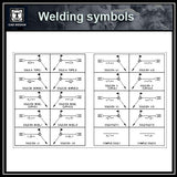 Free Welding Symbol Blocks - CAD Design | Download CAD Drawings | AutoCAD Blocks | AutoCAD Symbols | CAD Drawings | Architecture Details│Landscape Details | See more about AutoCAD, Cad Drawing and Architecture Details