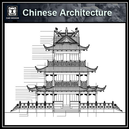 Chinese Architecture Cad Drawings Plan Elevation Details Cad Design Free Cad Blocks Drawings
