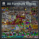 All Furniture Blocks!!(All in one) - CAD Design | Download CAD Drawings | AutoCAD Blocks | AutoCAD Symbols | CAD Drawings | Architecture Details│Landscape Details | See more about AutoCAD, Cad Drawing and Architecture Details