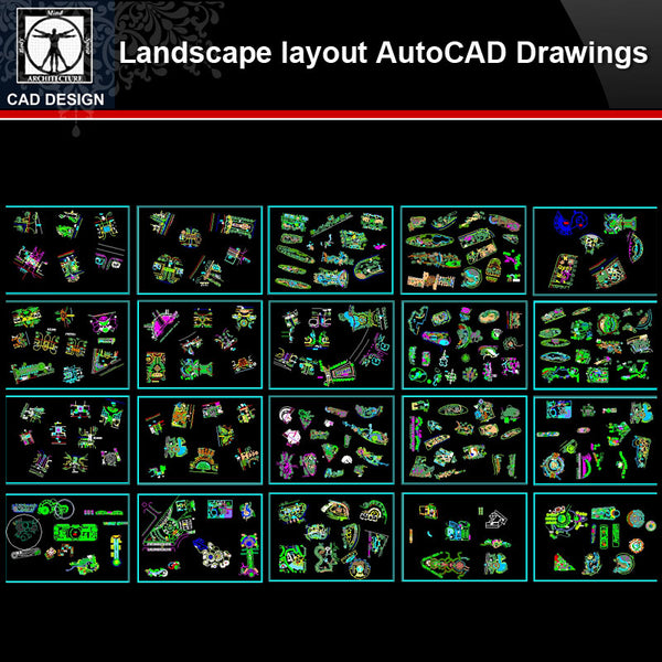 ★【Landscape layout Autocad Drawings Collections】All kinds of Landscape CAD Drawings - CAD Design | Download CAD Drawings | AutoCAD Blocks | AutoCAD Symbols | CAD Drawings | Architecture Details│Landscape Details | See more about AutoCAD, Cad Drawing and Architecture Details