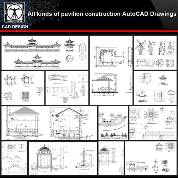 ★【Pavilion Design Details Autocad Drawings Collections】All kinds of Landscape Pavilion Details CAD Drawings - CAD Design | Download CAD Drawings | AutoCAD Blocks | AutoCAD Symbols | CAD Drawings | Architecture Details│Landscape Details | See more about AutoCAD, Cad Drawing and Architecture Details