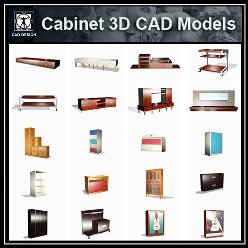 Cabinet 3D Cad Models - CAD Design | Download CAD Drawings | AutoCAD Blocks | AutoCAD Symbols | CAD Drawings | Architecture Details│Landscape Details | See more about AutoCAD, Cad Drawing and Architecture Details