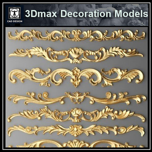 3D Max Decoration Models V.3 - CAD Design | Download CAD Drawings | AutoCAD Blocks | AutoCAD Symbols | CAD Drawings | Architecture Details│Landscape Details | See more about AutoCAD, Cad Drawing and Architecture Details