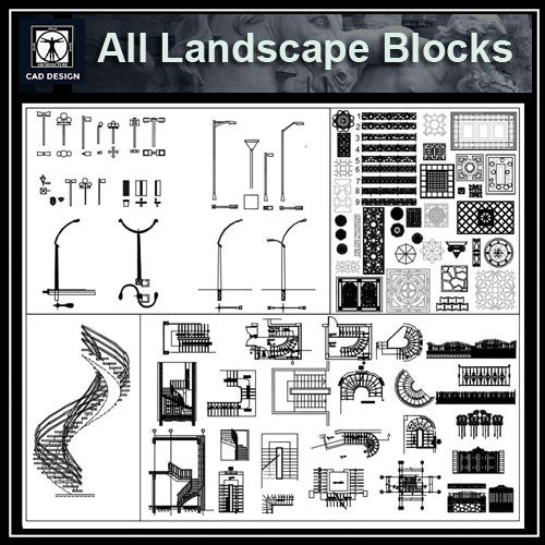All Landscape Blocks - CAD Design | Download CAD Drawings | AutoCAD Blocks | AutoCAD Symbols | CAD Drawings | Architecture Details│Landscape Details | See more about AutoCAD, Cad Drawing and Architecture Details