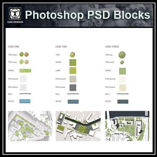 Photoshop PSD Landscape Blocks V1(Recommand!!) - CAD Design | Download CAD Drawings | AutoCAD Blocks | AutoCAD Symbols | CAD Drawings | Architecture Details│Landscape Details | See more about AutoCAD, Cad Drawing and Architecture Details