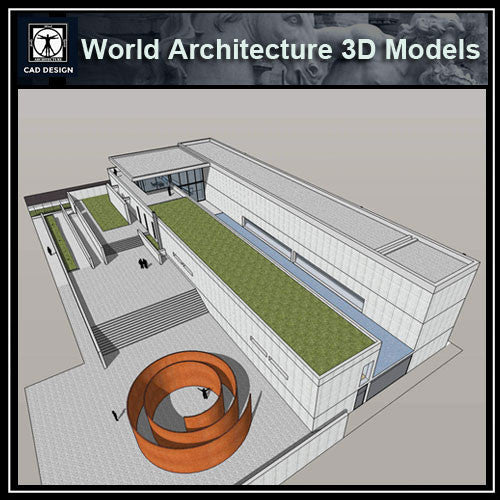 Sketchup 3D Architecture models- The Pulitzer Foundation for the Arts (Tadao Ando ) - CAD Design | Download CAD Drawings | AutoCAD Blocks | AutoCAD Symbols | CAD Drawings | Architecture Details│Landscape Details | See more about AutoCAD, Cad Drawing and Architecture Details