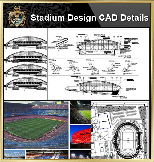 ★【Stadium CAD Design-Stadium,Gymnasium, track and field, playground, sports hall】@CAD Blocks,Autocad Blocks,Drawings,CAD Details