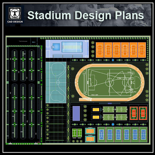 Stadium Plans - CAD Design | Download CAD Drawings | AutoCAD Blocks | AutoCAD Symbols | CAD Drawings | Architecture Details│Landscape Details | See more about AutoCAD, Cad Drawing and Architecture Details