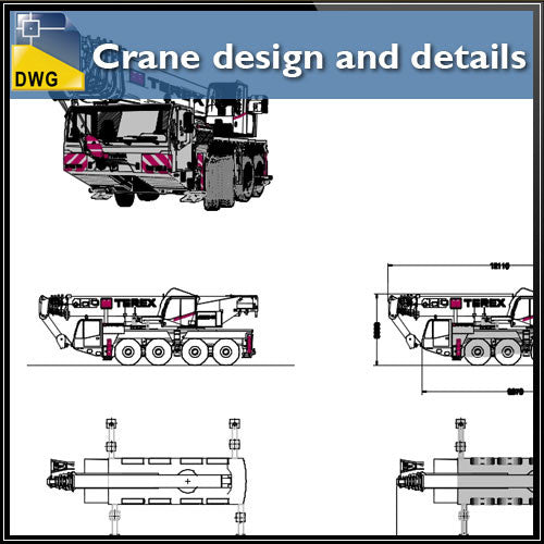 Crane design and details - CAD Design | Download CAD Drawings | AutoCAD Blocks | AutoCAD Symbols | CAD Drawings | Architecture Details│Landscape Details | See more about AutoCAD, Cad Drawing and Architecture Details