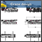 Crane design CAD Blocks - CAD Design | Download CAD Drawings | AutoCAD Blocks | AutoCAD Symbols | CAD Drawings | Architecture Details│Landscape Details | See more about AutoCAD, Cad Drawing and Architecture Details
