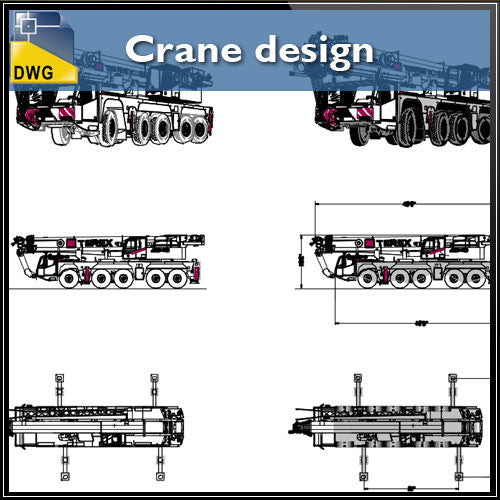 Crane design CAD Blocks