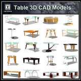 Tables 3D Cad Models