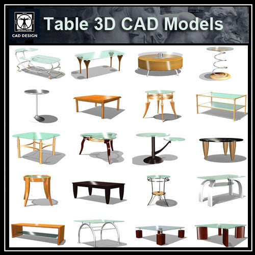 Tables 3D Cad Models - CAD Design | Download CAD Drawings | AutoCAD Blocks | AutoCAD Symbols | CAD Drawings | Architecture Details│Landscape Details | See more about AutoCAD, Cad Drawing and Architecture Details