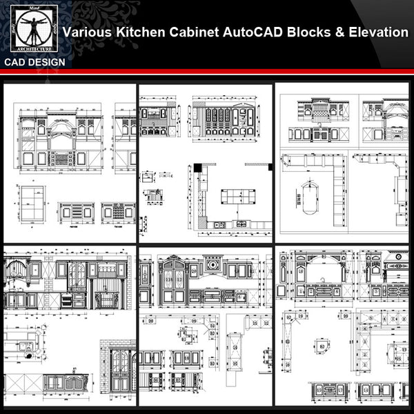 ★【Various Kitchen Cabinet Autocad Blocks & elevation V.3】All kinds of Kitchen Cabinet CAD drawings Bundle - CAD Design | Download CAD Drawings | AutoCAD Blocks | AutoCAD Symbols | CAD Drawings | Architecture Details│Landscape Details | See more about AutoCAD, Cad Drawing and Architecture Details