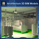 Mechanical Room - BIM 3D Models