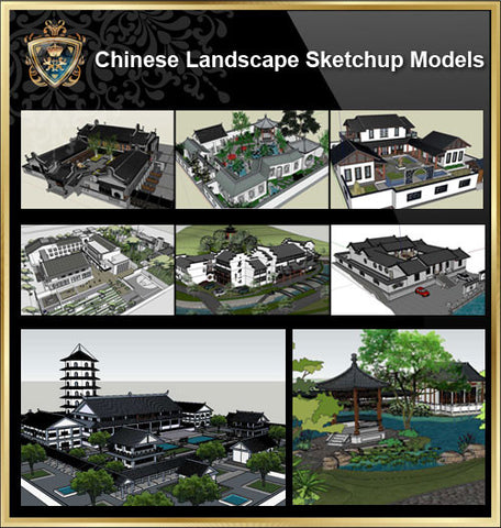 ●European Landscape Elements Sketchup 3D Models