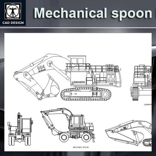 Mechanical spoon Blocks - CAD Design | Download CAD Drawings | AutoCAD Blocks | AutoCAD Symbols | CAD Drawings | Architecture Details│Landscape Details | See more about AutoCAD, Cad Drawing and Architecture Details