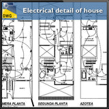 Electrical Detail Of House In Autocad Dwg Files Cad Design Free