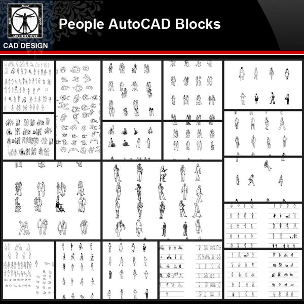 ★【People Autocad Blocks Collections】All kinds of People CAD Blocks - CAD Design | Download CAD Drawings | AutoCAD Blocks | AutoCAD Symbols | CAD Drawings | Architecture Details│Landscape Details | See more about AutoCAD, Cad Drawing and Architecture Details