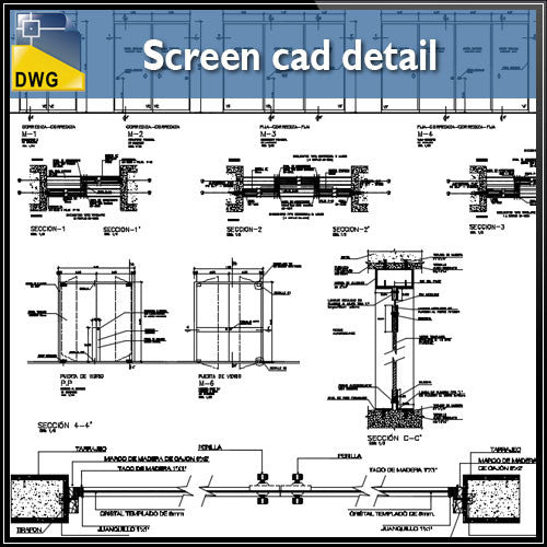 Screen cad detail
