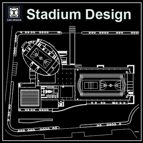Stadium Cad Drawings 2 - CAD Design | Download CAD Drawings | AutoCAD Blocks | AutoCAD Symbols | CAD Drawings | Architecture Details│Landscape Details | See more about AutoCAD, Cad Drawing and Architecture Details