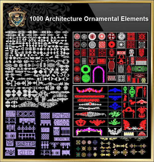 Over 1000+ Architecture Ornamental Elements(Best Collections!!) - CAD Design | Download CAD Drawings | AutoCAD Blocks | AutoCAD Symbols | CAD Drawings | Architecture Details│Landscape Details | See more about AutoCAD, Cad Drawing and Architecture Details