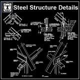 Free Steel Structure Details 2 - CAD Design | Download CAD Drawings | AutoCAD Blocks | AutoCAD Symbols | CAD Drawings | Architecture Details│Landscape Details | See more about AutoCAD, Cad Drawing and Architecture Details