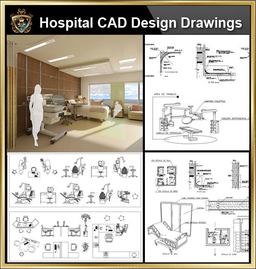 ★【Hospital, Medical equipment, ward equipment, Hospital beds,Hospital design,Treatment room CAD Design Drawings V.1】@Autocad Blocks,Drawings,CAD Details,Elevation - CAD Design | Download CAD Drawings | AutoCAD Blocks | AutoCAD Symbols | CAD Drawings | Architecture Details│Landscape Details | See more about AutoCAD, Cad Drawing and Architecture Details