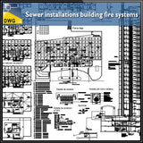 Sewer installations building fire systems - CAD Design | Download CAD Drawings | AutoCAD Blocks | AutoCAD Symbols | CAD Drawings | Architecture Details│Landscape Details | See more about AutoCAD, Cad Drawing and Architecture Details