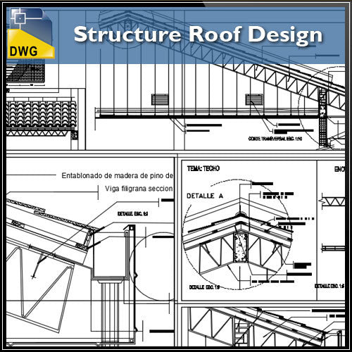 Structure Roof Design – CAD Design