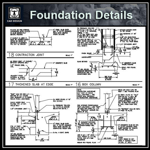 Free CAD Details-Foundation Details - CAD Design | Download CAD Drawings | AutoCAD Blocks | AutoCAD Symbols | CAD Drawings | Architecture Details│Landscape Details | See more about AutoCAD, Cad Drawing and Architecture Details