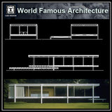 Farnsworth house - CAD Design | Download CAD Drawings | AutoCAD Blocks | AutoCAD Symbols | CAD Drawings | Architecture Details│Landscape Details | See more about AutoCAD, Cad Drawing and Architecture Details