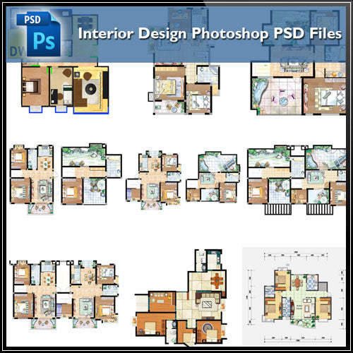 15 Types of Interior Design Layouts Photoshop PSD Template V.2 - CAD Design | Download CAD Drawings | AutoCAD Blocks | AutoCAD Symbols | CAD Drawings | Architecture Details│Landscape Details | See more about AutoCAD, Cad Drawing and Architecture Details