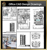 ★【Office, Commercial building, mixed business building CAD Design Project V.2】@Autocad Blocks,Drawings,CAD Details,Elevation