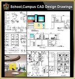 ★【School, University, College,Campus CAD Design Project V.4】@Autocad Blocks,Drawings,CAD Details,Elevation - CAD Design | Download CAD Drawings | AutoCAD Blocks | AutoCAD Symbols | CAD Drawings | Architecture Details│Landscape Details | See more about AutoCAD, Cad Drawing and Architecture Details