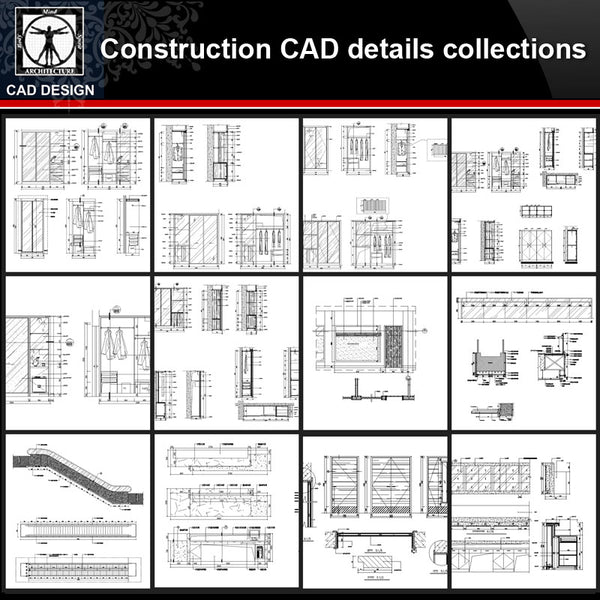 ★【Construction CAD Details Collections】All kinds of Construction CAD Details Bundle - CAD Design | Download CAD Drawings | AutoCAD Blocks | AutoCAD Symbols | CAD Drawings | Architecture Details│Landscape Details | See more about AutoCAD, Cad Drawing and Architecture Details