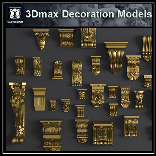 3D Max Decoration Models V.5 - CAD Design | Download CAD Drawings | AutoCAD Blocks | AutoCAD Symbols | CAD Drawings | Architecture Details│Landscape Details | See more about AutoCAD, Cad Drawing and Architecture Details